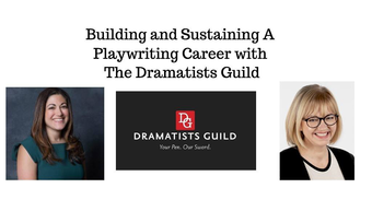 Tina Fallon, the Dramatist Guild logo, and Deborah Murad.