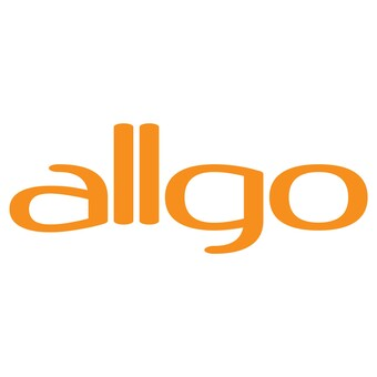 text: allgo in an orange font.