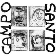 drawings of faces with text CAMPO SANTO