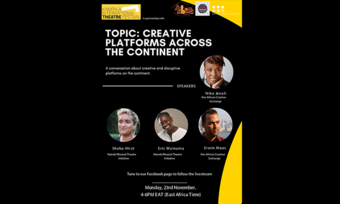 event poster for Creative Platforms Across the Continent.