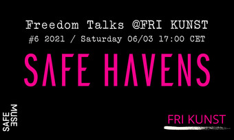 safe havens freedom talks number 6 event poster.
