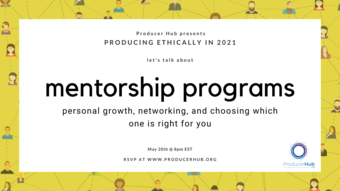 yellow border around black text mentorship programs.