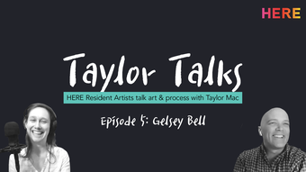 portrait of gelsey and taylor against a black background with white text TAYLOR TALKS.