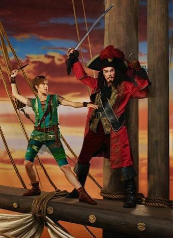 Allison Williams and Christopher Walken as Peter Pan and Captain Hook