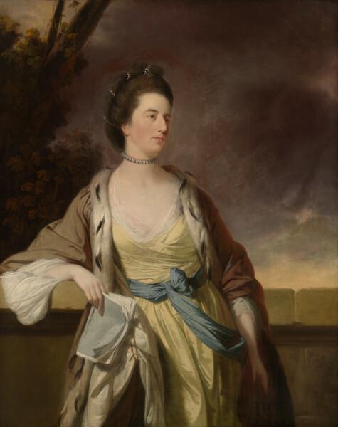 eighteenth century painting of woman