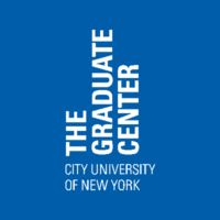 blue background with white text The Graduate Center