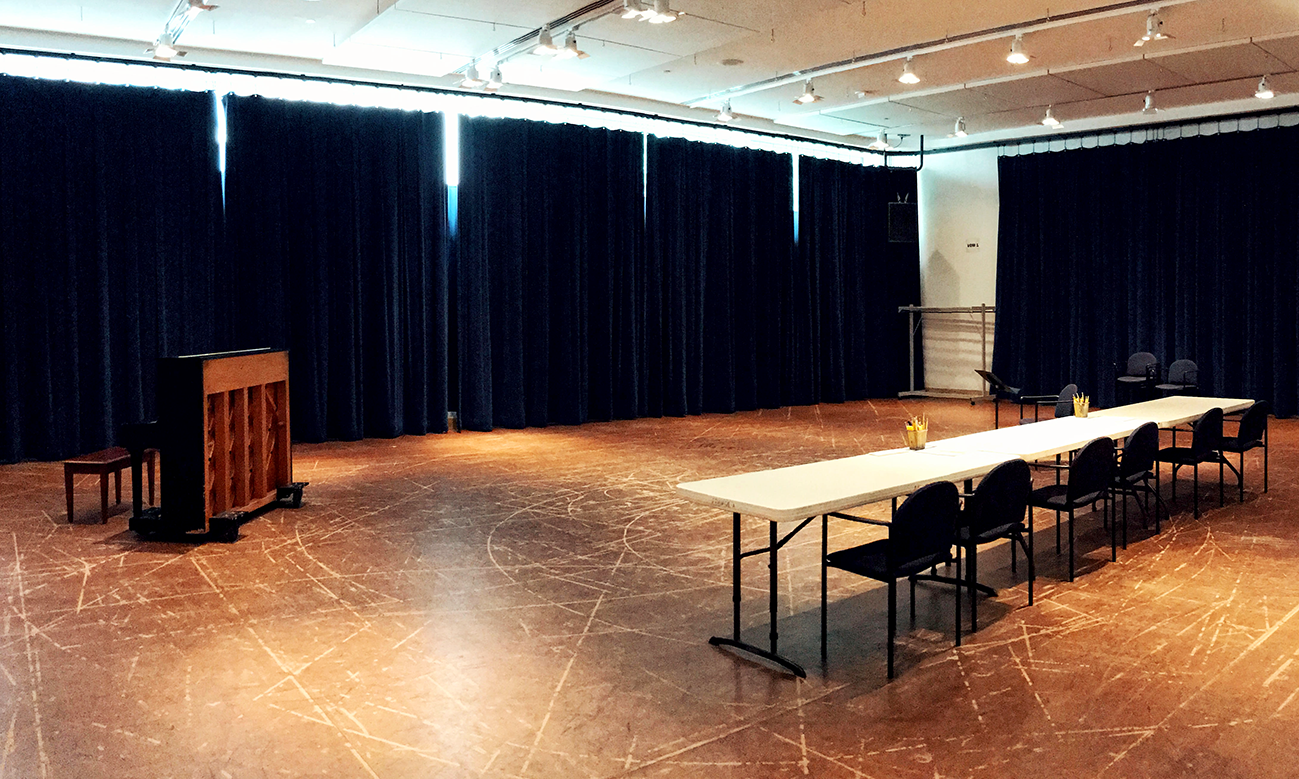 an empty audition room